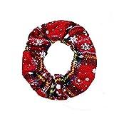 SUKOKOLA Christmas Plaid Snowflake Pattern Hair Ring,Hair Scrunchies,Elastic Hair Bands For Women...