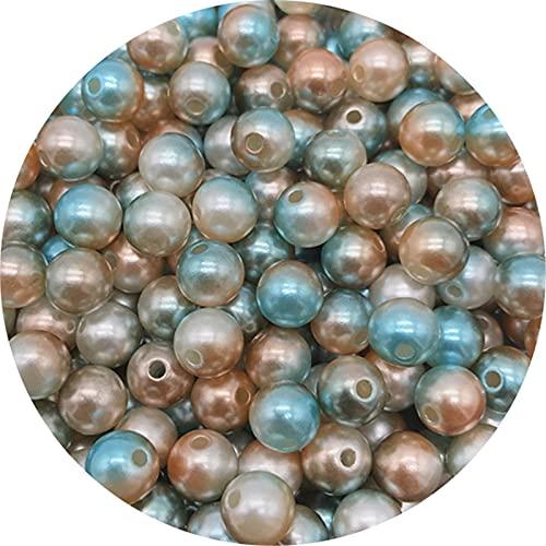 TFGUOqun Cuentas Sueltas, Perlas de acrílico acrílico de 6 mm Arco Iris con Cuentas Sueltas Redondas para joyería Haciendo Perlas de Bricolaje Perlas de Ropa para Hacer Joyas DIY (Color : M)