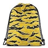 Urban Tiger Stripe Camouflage Drawstring Bags Bolsas de Mochila de Gimnasio Personalizadas Bolsa de Viaje para Gimnasio, Yoga