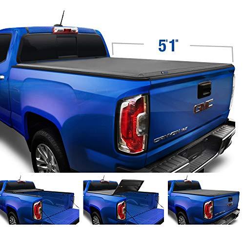 "Tyger Auto T3 Soft Tri-Fold Truck Bed Tonneau Cover for 2004-2012 Chevy Colorado/GMC Canyon; 2006-2008 Isuzu I350 Fleetside 5'1"" Bed TG-BC3C1001"