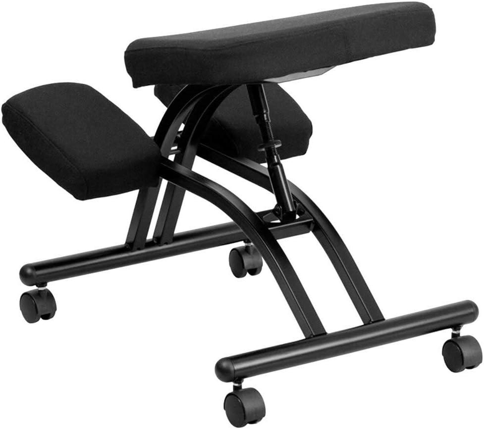 VBARV Chaise Ergonomique créative - Tabouret réglable pour la Maison et Le Bureau, siège à la Taille pour améliorer Votre Posture avec Rouleau et Coussin Confortable A