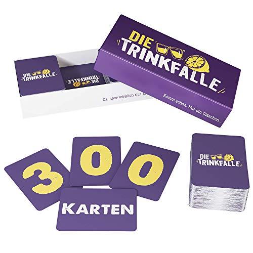 ZENAGAME Die Trinkfalle - Trinkspiel - Das Lustige Partyspiel, 300 Karten für Einen Unvergesslichen Partyabend - Saufspiele für Erwachsene