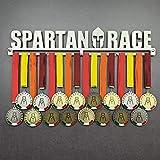 Obstacle Race - Colgador de medallas Deportivas - Medallero de Pared Spartan, OCR, Cross-Fit - Sport Medal Hanger - Display Rack (600 mm x 115 mm x 3 mm)