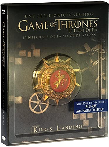 Game of Thrones (Le Trône de Fer) - Saison 2 - Blu-ray - HBO [SteelBook édition limitée - Blu-ray + Magnet Collector]