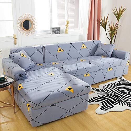 WXQY Wohnzimmer elastische Sofabezug geometrische Muster Sofabezug All-Inclusive Haustierschutz Sofabezug Kombination A15 3-Sitzer