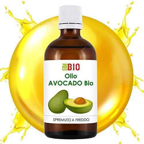 Olio di Avocado Bio 50 ml spremuto a freddo - Corpo Capelli Viso Terapeutico - 100% puro LaborBio