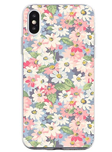 Suhctup Compatible con iPhone 6 Plus/6S Plus Funda Flor de TPU Transparente Diseño de Flores Patrón Cárcasa Ultra Fina Suave con Dibujos Claro Silicona Antigolpes Proteccion Caso(A3)