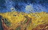 Deerbird Rompecabezas de 1000 piezas - Campo de trigo con cuervos - Serie de pintura famosa - Rompecabezas de calidad 1000 piezas para adultos y adolescentes