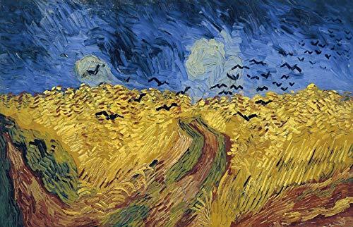 Deerbird 1000 Pezzi Puzzle da Adulti, Pittura di Van Gogh: Campo di grano con corvi, Puzzle 1000 Pezzi Multicolore Puzzle Classici 19,69 * 27,56 pollici
