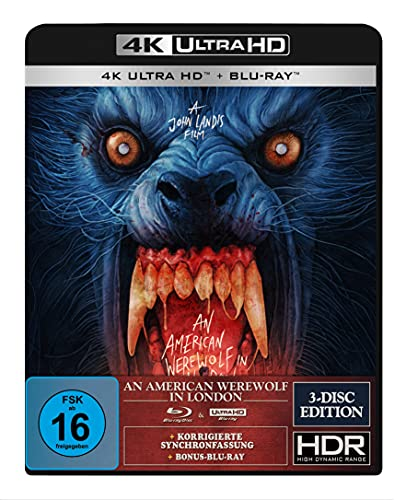 An American Werewolf in London - 3-Disc-Special Edition (4K Ultra HD) (+ Blu-ray 2D) (+ Bonus-Blu-ray) (Gabz Artwork)