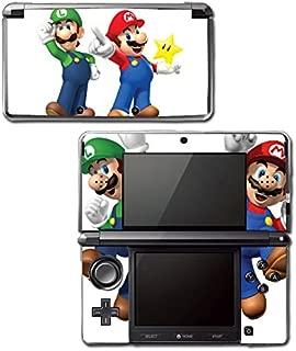 New Super Mario Bros 3D Land World 2 Luigi Star Video Game Vinyl Decal Skin Sticker Cover for Original Nintendo 3DS System