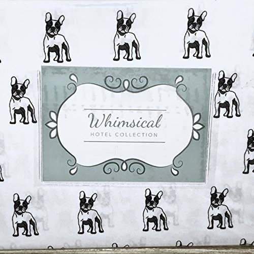 Whimsical Hotel Collection French Bulldog Queen Size Sheet Set