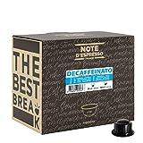 Note d'Espresso - Decaffeinato - Cápsulas de Café para las Cafeteras CAFFITALY* - 100 caps