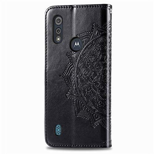PHONETABLETCASE+ / for Compatible with Motorola Moto E6S (2020) Mandala Mandala Funda de Cuero Horizontal Flip PU de la PU con Las Ranuras y el Soporte y la Billetera,Protección de la Cubierta de la