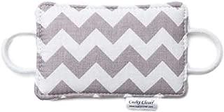 The Original Cushy Closer Door Cushion- Chandler Gray - Chevron   No More Noisy Doors!   Door Latch Cover- Baby Safety for Quiet Doors-3.5 x 5.5
