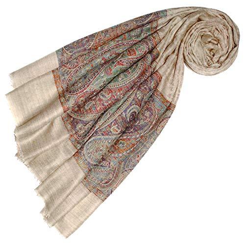 Lorenzo Cana Luxus Pashmina Damen Kaschmirschal 100% Kaschmir jacquard gewebt Paisley Muster Schal Schaltuch Kaschmirtuch Kaschmirpashmina 78368
