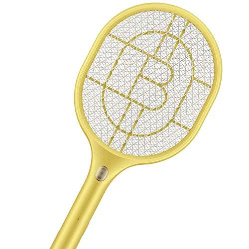 WZM Cocina Raqueta Matamoscas Eléctrico Swatter Inteligente Zapper Mosquito Plagas Insectos Asesino Repelente USB Recargable LED con Luces para Interior en Aire Libre Malla de Oficina (Color : 2)