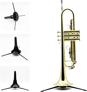 Andoer Trumpet Holder Tripod Stand Metal Leg Detachable Portable Foldable