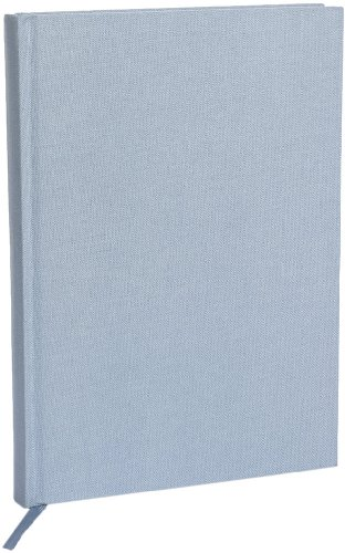 Semikolon (350910) Notizbuch Classic A5 liniert ciel (hell-blau) - Buchleinenbezug - 160 Seiten mit cremeweißem 100g/m²- Papier - Lesezeichen