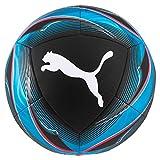 Puma Icon Ball Ballon De Foot Mixte Adulte, Black-Luminous Blue-Pink Alert White, 5
