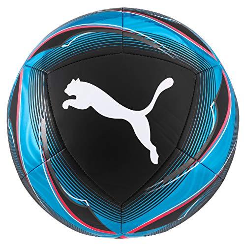 PUMA Unisex– Erwachsene ICON Ball Fußball, Black-Luminous Blue-Pink Alert White, 5