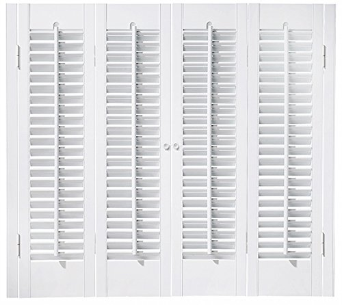 "Faux Wood DIY Traditional 1 1/4"" Interior Shutter Kits (Paint Finish White, 27-29"" W x 24"" L)"
