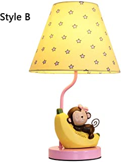 HULUWAWA Cartoon Child Monkey Holding Banana Shape Table Lamp,LED Desk Lamp Warm Light Dimming Switch Table Lamps Touch Control Gooseneck Reading Lamp for Office,Home,Reading,Study,Work