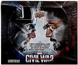 Upper Deck Marvel Captain America: Civil War Trading Cards Box 2016