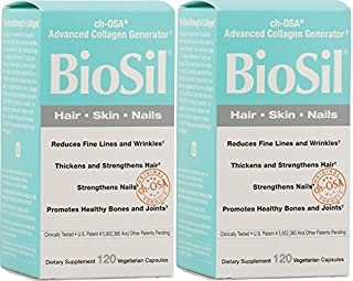 Biosil Skin & Hair & Nails Biosil 120 Vcaps X 2