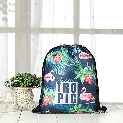 weichuang Monstera - Serviette de plage ronde pour adultes - Motif feuilles - Avec cordon de serrage - Pour sac à dos - Tapisserie murale (couleur : 1 sac)