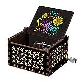 You are My Sunshine Music Box Gift for Wife, Birthday Anniversary Valentine to Girlfriend Women Musical Box Present