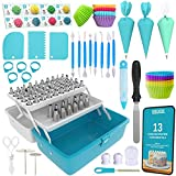 Cake Decorating Tools 246-Piece Piping Bags and Tips Set Cake Decorating Kit with 62 Piping Tips...