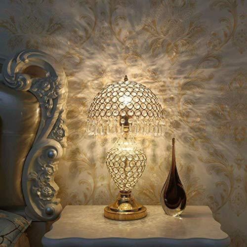 Outingstarcase Lámparas de mesa, fino y elegante lámpara de mesa, lámparas creativas, Crystal dormitorio de noche, en la sala de control remoto niños que trabajan Rines decorativos Adecuado para estud