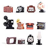 inheming 12Pcs Dollhouse Furniture Accessories Decor, Vintage Style Mini Toy, Kids DIY Dre...