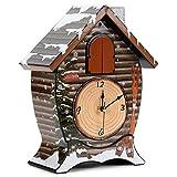 Mark Feldstein Snowy Cabin Singing Cardinal Tabletop Wall Sound Cuckoo Clock