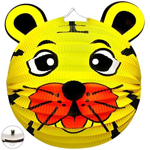 alles-meine.de GmbH 2 Stück _ 3D Effekt _ Laternen / Lampions - Löwe - Tiger - Teddy Bär - aus Papier - für Kinder - Papierlaterne - Lampe - Laternen Lampions - Kerzen Kerze - Fi..