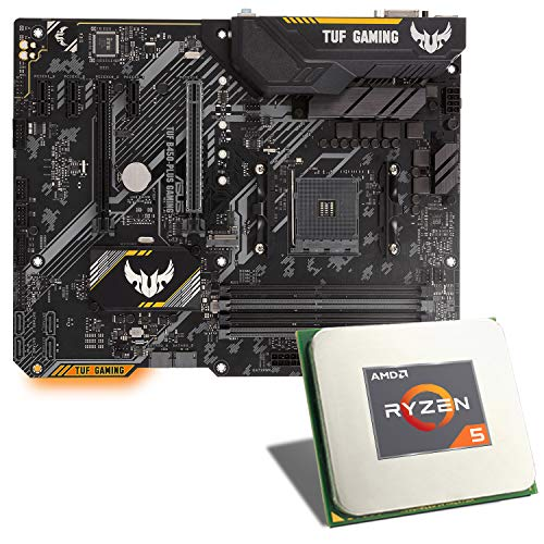 AMD Ryzen 5 3600 / ASUS TUF B450-PLUS Gaming Mainboard Bundle | CSL PC Aufrüstkit | AMD Ryzen 5 3600 6X 3600 MHz, GigLAN, 7.1 Sound, USB 3.1 | Aufrüstset | PC Tuning Kit