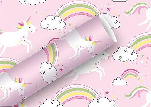 BRAUN COMPANY Geschenkpapier 2m x 70cm Unicorn, rosa