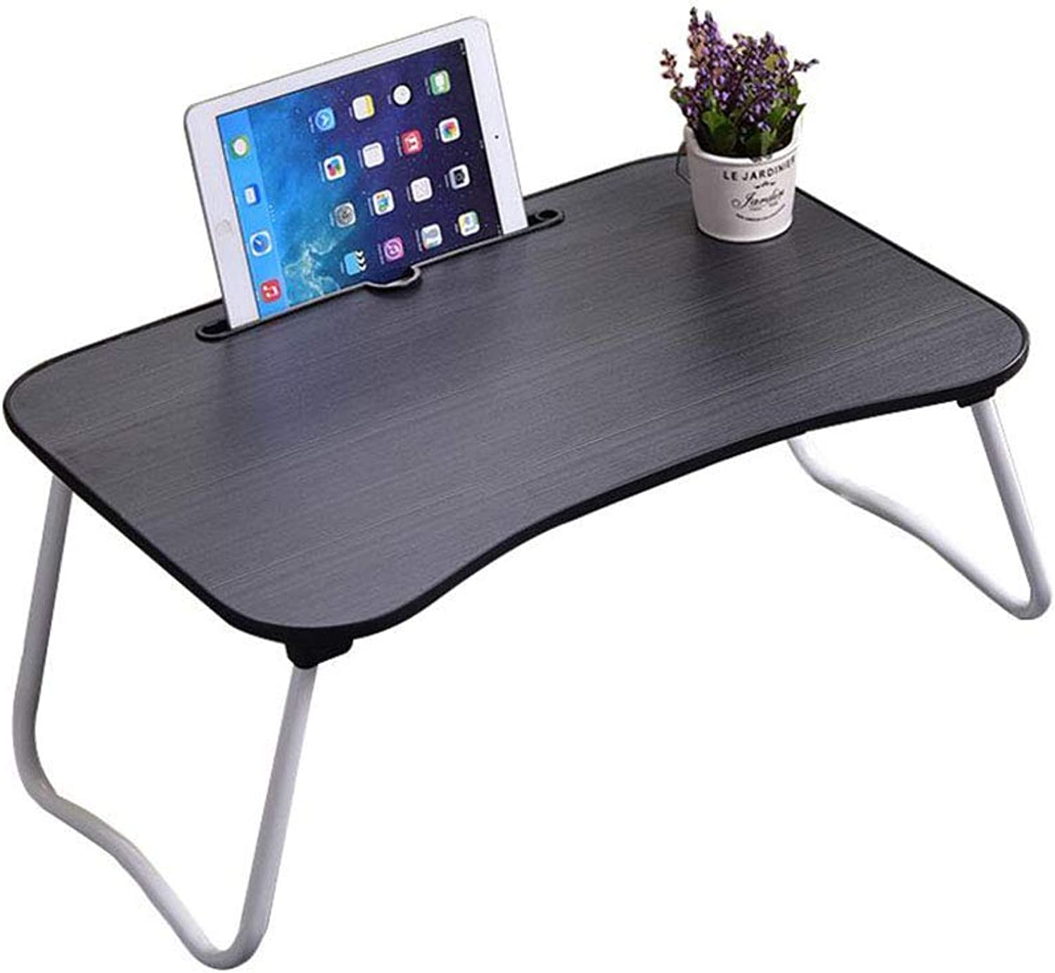 LiTing-Folding Table Bed Desk Folding Table College Dormitory Laptop Desk Bedroom Multifunctional Lazy Small Table Simple (Size  60x40x28cm)