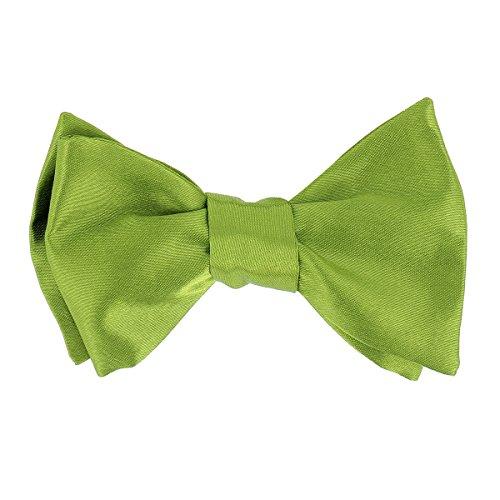CravateSlim Noeud Papillon Vert olive à Nouer - Noeud Papillon Mariage