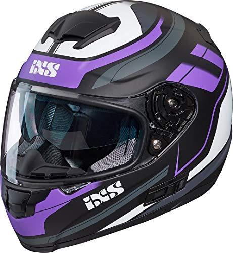 IXS X14071-M38-XS Casco Moto , Multicolore (Nero-Rosa-Bianco Opaco), XS