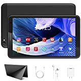 Tablet 8 inch with WiFi, Android 10.0 Tablet PC 3GB RAM 32GB Storage 128GB Expandable 1280X800 HD IPS Display, Quad-Core Bluetooth GPS Tablets (Black)