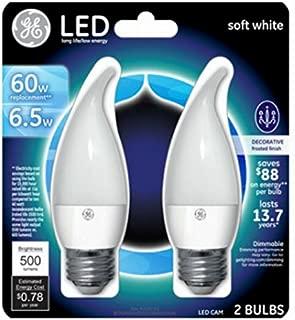 G E Lighting 17842 0 GE 2PK 7W CLR LED Bulb
