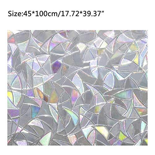 Piero Statische Privacy Vensterglas Film Sticker Gekleurd Anti UV Zelfklevend Regenboogstickers Home Decor