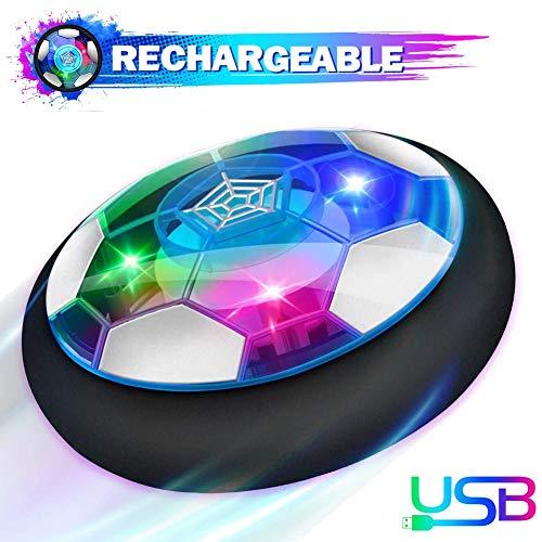 Q&Z Air Hover Calcio,Hover Soccer Ball,Ricaricabile Pallone da Calcio da Casa Fluttuante con LED Luce I Migliori Regali per Le Vacanze dei Bambini per Animali Domestici