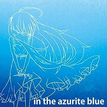 in the azurite blue