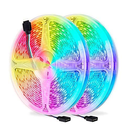 Tira de LED RGB, 5050 SMD RGB Tira de LED, Luces LED de Colores, tiras de LED Adhesivas para Dormitorio, Fiesta, Hogar, Bar (Size : 20m)