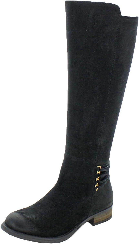 Steve Madden Womens Quest Tall Riding Knee-High Boots Black 5.5 Medium (B,M)