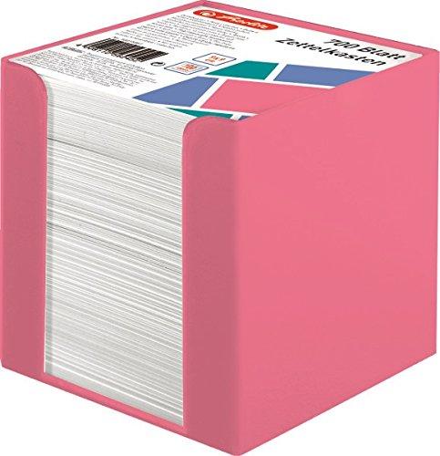 Herlitz 50015887 Zettelkasten 9 x 9 cm mit 700 Blatt, indonesia pink