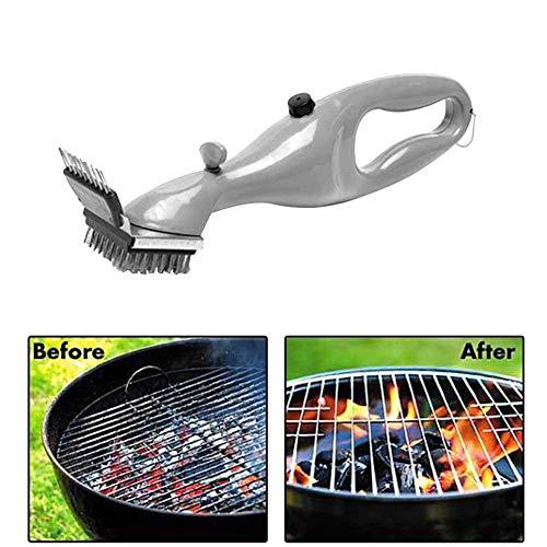 Grillbürste Dampfbürste,Edelstahl-Dampfgrill-Reinigungsbürste für chemikalienfreie, einfache und effiziente Reinigung, geeignet für alle Arten von Grills
